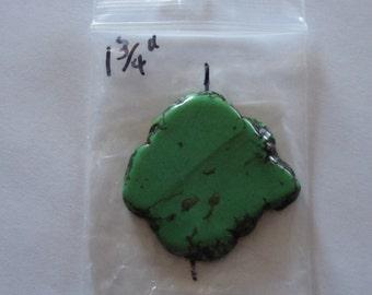 Green Turquoise Magnasite Slab Pendant.