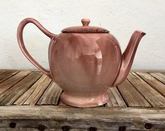 Vintage Mauve Pink Teapot Avon