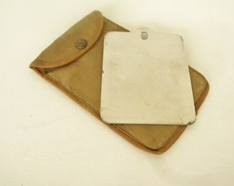Pocket Reflector Canvas Pouch Survivalist Military Signal Hiking
