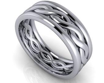 unisex wedding band or mens wedding band