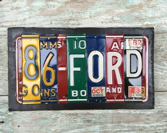 Ford License Plate Sign
