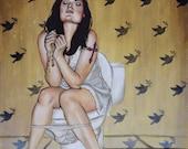 Toilet Painting No. 6 Original Artwork