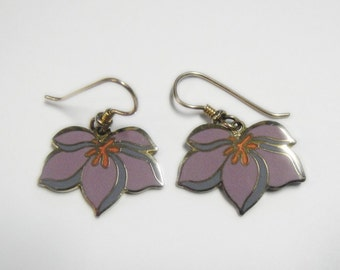 Laurel Burch PEAR BLOSSOM Earrings - Retired Design and Discontinued Line - Vintage