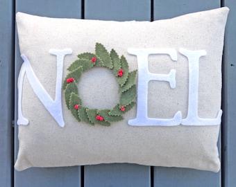 Christmas Noel pillow, Christmas home decor, rustic holiday decor, holiday pillow, holiday gift decor, Christmas home decoration, NOEL