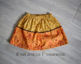 Size girls 12mos, 18 mos .  Clearance, free shipping.  Cute skirt in 12 months,  18 months. size 6.  Only 1 of each.