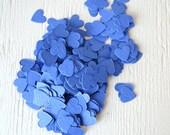 SALE - Royal Blue Heart Wildflower Seed Paper Confetti, Wedding Favor