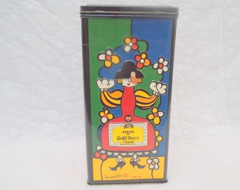 Handsome Colorful Signed Tin---1990