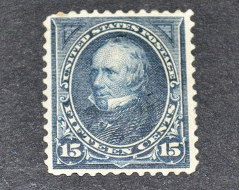 US stamp 1894 scott#294 15 cent Clay mint hinge catolog value three hundred twenty five