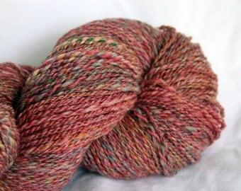 Handspun Yarn Sport Weight - Cinnamon Heather