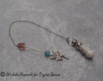 Fairy Agate Dowsing Pendulum (DP0286)