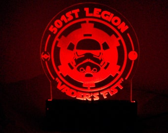 Star Wars Storm trooper Edge Lit Acrylic lamp