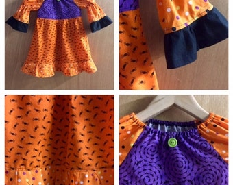 Halloween Peasant Style Dress, size 3t
