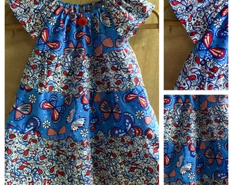 4th of July Peasant Dress,  size 4t