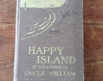 Journal, The Happy Island vintage repurposed vacation travel  journal