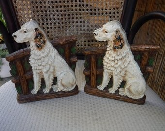 Vintage English Setter bookends
