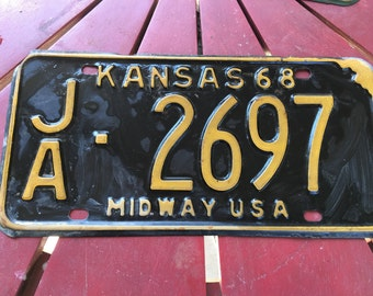 1968 Kansas license plate Midway USA