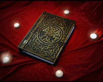 Book of Shadows Celtic Knot Blank Book A4 Wooden / Wood Journal / Visual Diary / Notebook / Spell Book