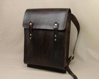 Large Rugged Rucksack - Dark Brown