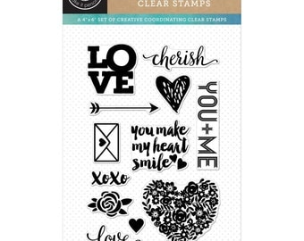 Hero Arts Clear Rubber Stamp Set - Love