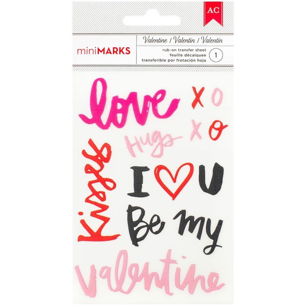 American Crafts Valentine Rub Ons