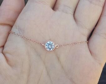 Sale-Tiny dot,CZ diamond stone dot necklace,Small Karma,Diamond cut tiny dot Necklace,Bridesmaid gifts,Wedding Bridal Jewelry