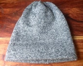 Wool knit hat, heathered grey