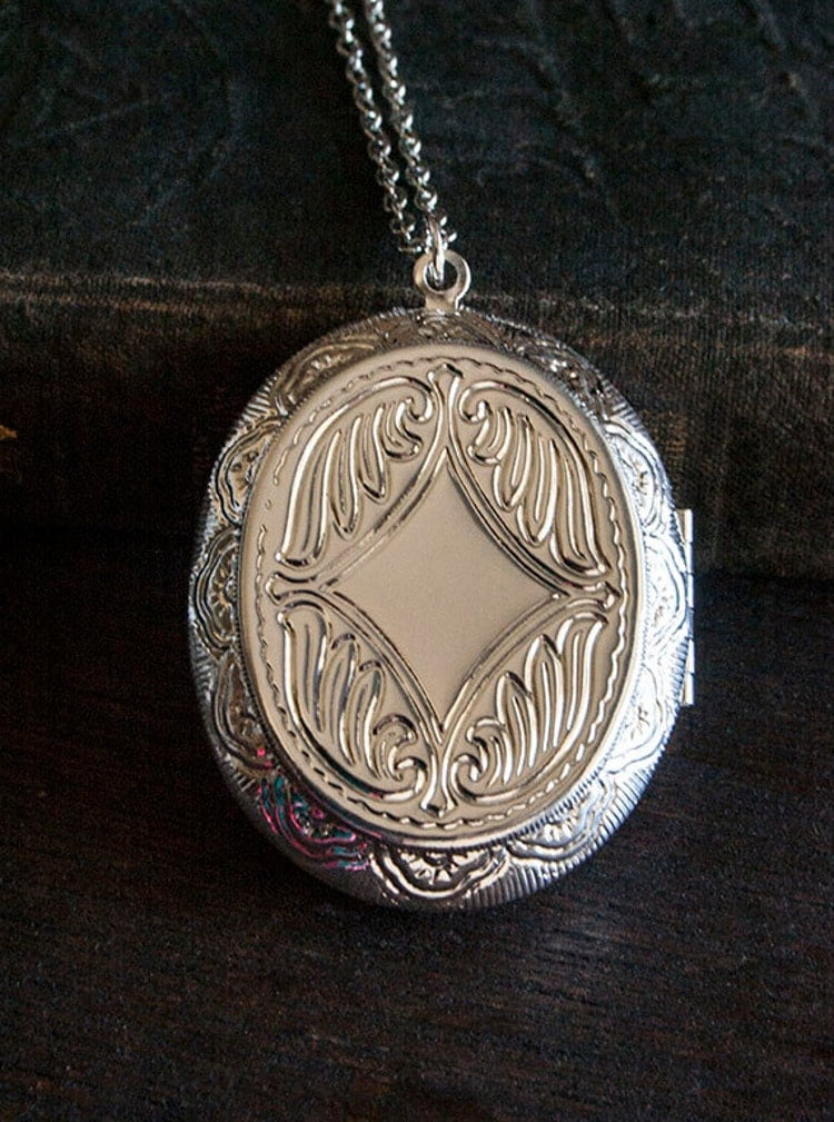 Perfume Locket Necklace With Solid Scent By