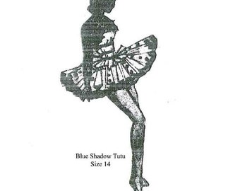 Vintage Ladies Ballet Tutu Sewing Pattern Size 14 PDF