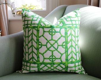Dorothy Draper Bali Hai Trellis Pillow Cover
