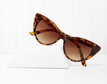 Mood Swing Cat Eye Sunglasses - Tortoise X American Deadstock Eyewear