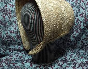 Cottage Style Coarse Straw Bonnet - Civil War Era -  by Anna Worden Bauersmith