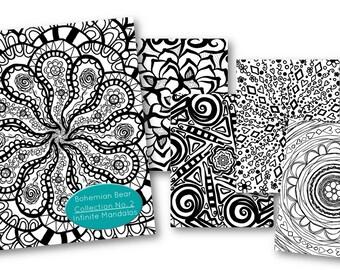 Zentangle Coloring Book | Collection No 2. Infinite Mandalas