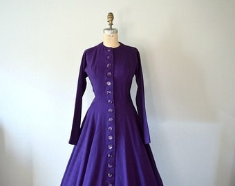 Vintage 1950s wool dress . Anne Fogarty dress