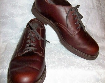 Vintage Men's Brown Leather Oxfords by Dexter Size 12 WIDE Only 17 USD