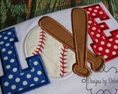Adult or children Baseball Bat Love Embroider shirt