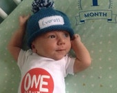 Baby Monthly Photos, Baby Announcement, Personalized, Baby Boy, Baby girl, 1st year baby photos, Baby Shower Gift, New Baby, Baby,  Newborn