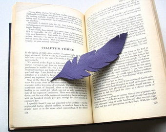 La Pluma-Feather-Leather Bookmark-Handmade-Original Design