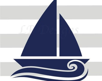 Nautical Nursery Decor, Sailboat Nursery Decor, Navy Blue and Gray Nursery, Sailboat Print, Nautical Kids Decor,  Whale Nursery Art - 8x10