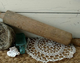 Antique Wood Rolling Pin - Vintage Farmhouse Antiques + Kitchen Tool, Baking Necessity, Gift for a Chef or Cook, Kitchen Decor, Cooking Tool