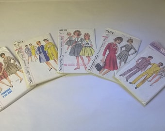 5 Pack Assorted Vintage Simplicity Sewing Patterns SIM 5745