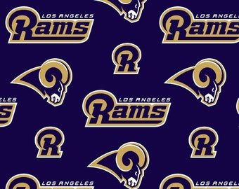 NFL LA Los Angeles Rams Anti Pill Fleece Fabric by the yard