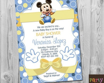 Baby Mickey Mouse Invitation For Christening orderecigsjuiceinfo