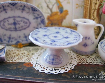 Blue Royal Cake Stand for Dollhouse