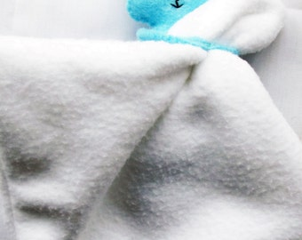 Blue Bunny Baby Comforter, Baby Gift, Softie, Plushie, Lovie, New Born Gift, Rabbit and Blanket, Soft Toys