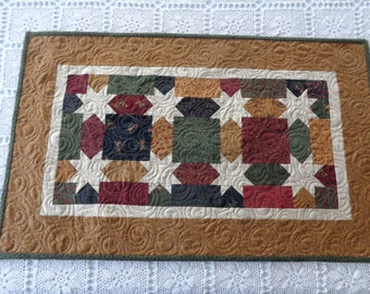 Star quilted Runner, Star little quilt, Star quilt 0201-01