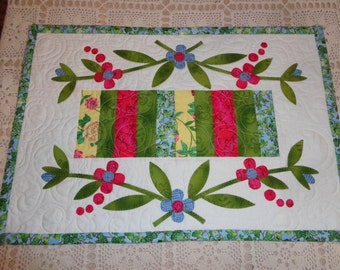 Spring Floral Table runner 20 by 49  0323-02