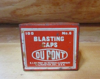 Du Pont Blasting Caps No. 6 Tin
