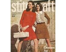1960s Stitchcraft Magazine February 1969 Mod Knit, Crochet, Rug, Needlepoint, Embroidery Spring Fashion Vintage Knitting Patterns Periodical