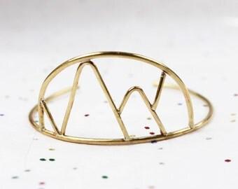Mountain  Geometric Cuff Bracelet