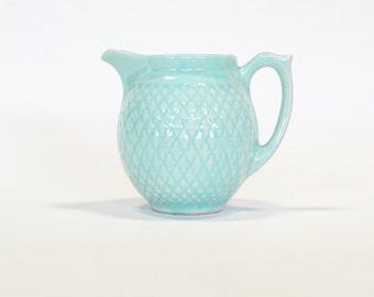 Ceramic Pitcher / Vase Robins Egg Blue by Hull USA, Vintage Housewares